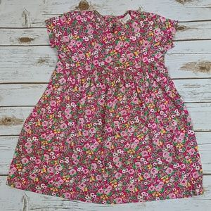 Hanna Andersson Pink Floral Dress Size 100